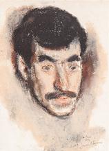 Corneliu BABA - Drawing-Watercolor - Portrair of a Man