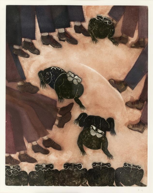 Francisco TOLEDO - Drawing-Watercolor - Sapos y ranas (sapos y zapatos, ocho sapos)