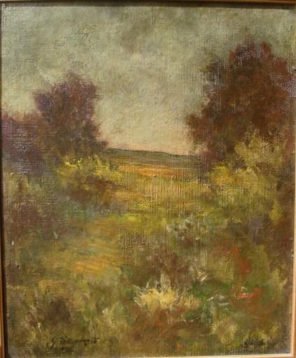 Georges D'ESPAGNAT - Painting - paysage