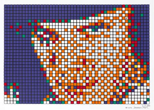 INVADER - Grabado - Rubik Kubrick A Clockwork Orange