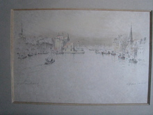 André HAMBOURG - Stampa Multiplo - LE GRAND BASSIN A HONFLEUR