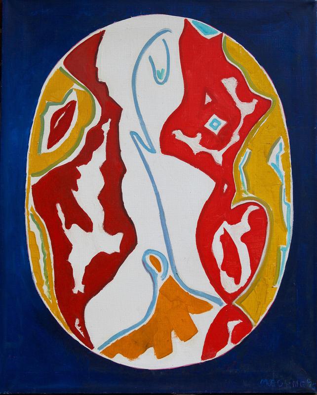 Mortimer BORNE - Pintura - Woman in oval