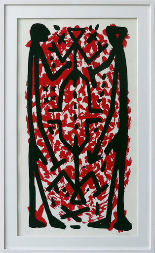 A.R. PENCK - Print-Multiple - Standart Hoch Rot II