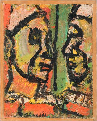 Georges ROUAULT - Gemälde - Face à face