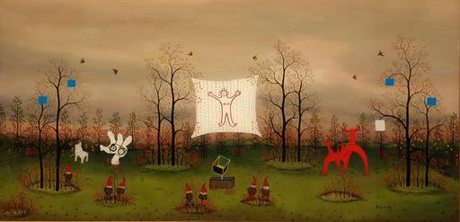 Manfred HORN - Pittura - Juroren im Wald der Kunst