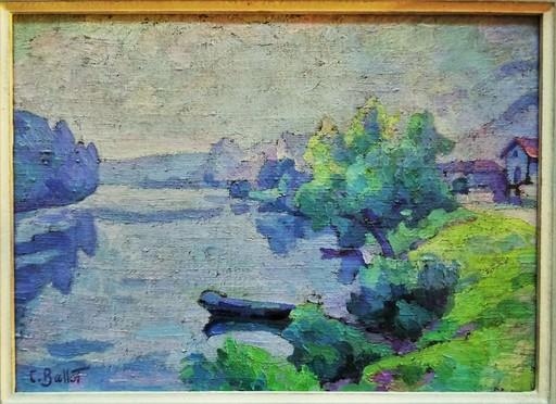 Clémentine BALLOT - Painting - La Seine au Petit-Andelys circa 1923