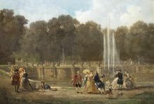 Ludwig VON HAGN - Painting - Rokokogesellschaft im Schloßpark von Sanssouci