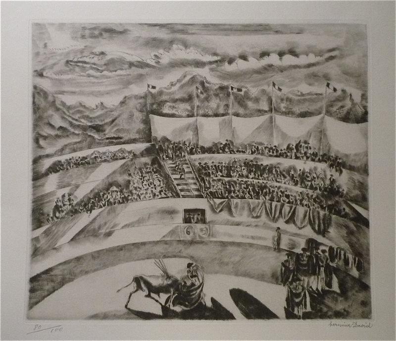 Hermine DAVID - Grabado - La Corrida