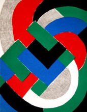 Sonia DELAUNAY-TERK (1885-1979) - Composition in Red, Green, Blue and Black