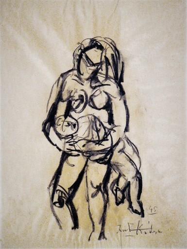 Ibrahim KODRA - Drawing-Watercolor - Maternità