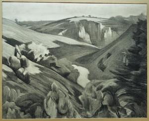 André-Alfred SMITH DE STRNBURG - Drawing-Watercolor - vallée de la Creuse à Crozant