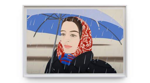 Alex KATZ - Grabado - Blue Umbrella