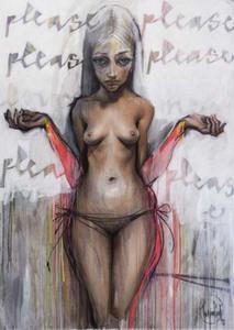 HERAKUT - Painting - ''Please Love Me''