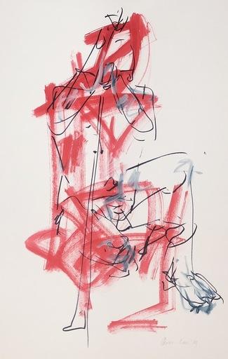 Nicole LEIDENFROST - Zeichnung Aquarell - Akt Nr. 17
