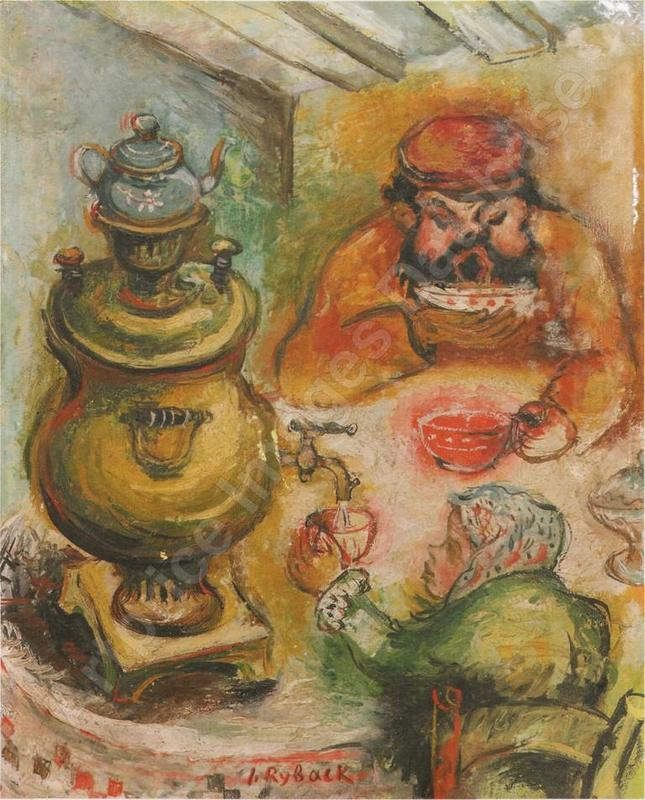 Issachar Ber RYBACK - Painting - By the Samovar
