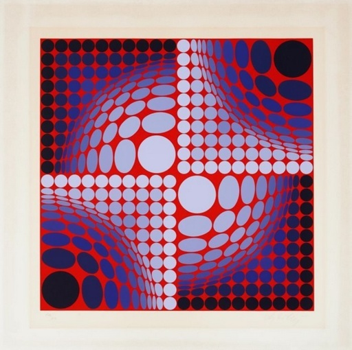 Victor VASARELY - Druckgrafik-Multiple - Sans titre