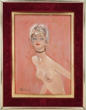 Jean Gabriel DOMERGUE - Peinture - Annette