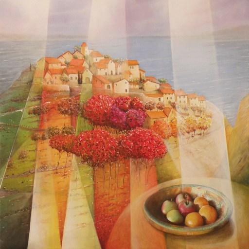 Frank GODILLE - Peinture - Avec vue sur l'Anse