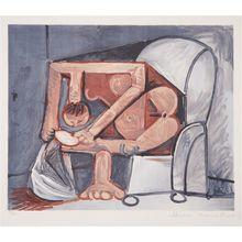 Pablo PICASSO - Grafik Multiple - Femme a la toilette