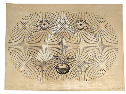 Ernest LEYDEN VAN - Grabado - Japanese Moon III