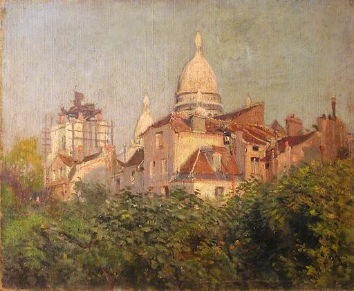 Henri VIGNET - Peinture - Effet de soleil sur Montmartre