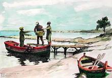 Aldo RISO (1929-2008) - Vita di mare e di lago a Oristano