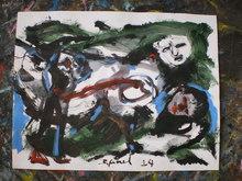 Bernard MOREL (1959) - PEINTRE ET MODELE