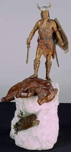Franz BERGMANN - Sculpture-Volume - Viking