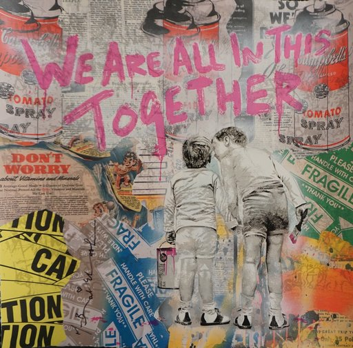 MR BRAINWASH - Zeichnung Aquarell - We Are All In This Together