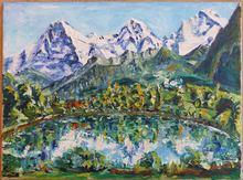 Jean-Frédéric SCHNYDER - Painting - Eiger - Mönch - Jungfrau