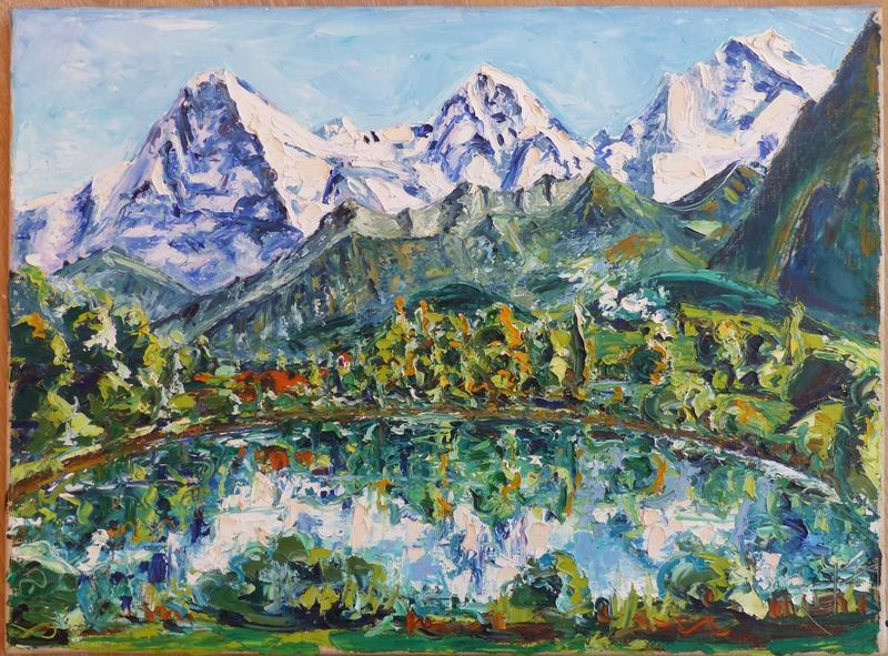 Jean-Frédéric SCHNYDER - Pittura - Eiger - Mönch - Jungfrau