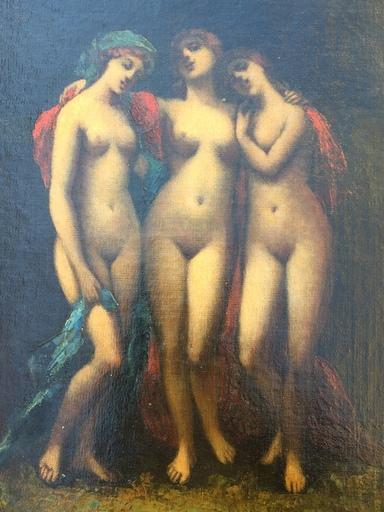 Narcisse Virgile DIAZ DE LA PEÑA - Peinture - Les trois graces