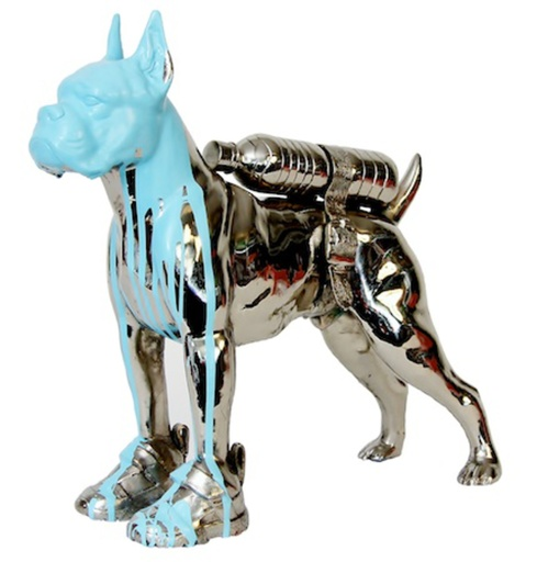 William SWEETLOVE - Print-Multiple - Cloned bronze bulldog with bottle water