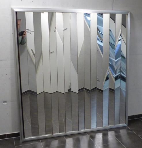 Victor BONATO - Skulptur Volumen - Glas-Spiegel-Verspannung