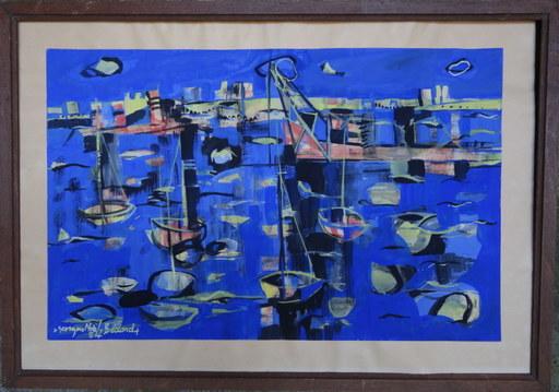 Georges NOEL - Dibujo Acuarela - le Port