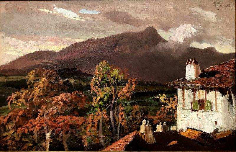 "Jean-Louis PAGUENAUD - Painting - ""LA RHUNE EN AUTOMNE"""