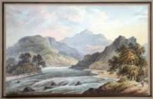 Francis NICHOLSON - Drawing-Watercolor - Le Rhônes près de Sion