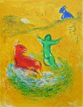 Marc CHAGALL (1887-1985) - The Wolf Trap from Daphnis and Chloe