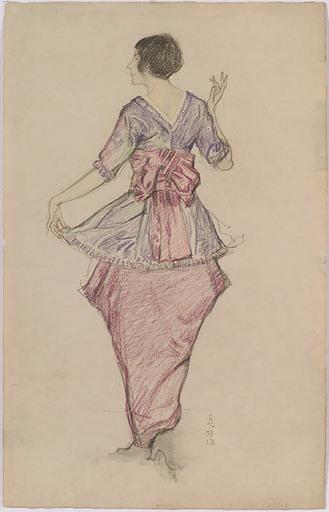 Hans STROHOFER - 水彩作品 -  Portrait of Mela Koehler, 1913