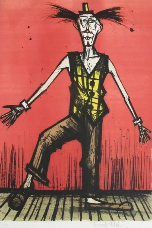 Stupendous Le Clown Bebert By Bernard Buffet Buy Art Online Artprice Interior Design Ideas Apansoteloinfo