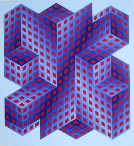 维克多•瓦沙雷利 - 版画 - Composition 4