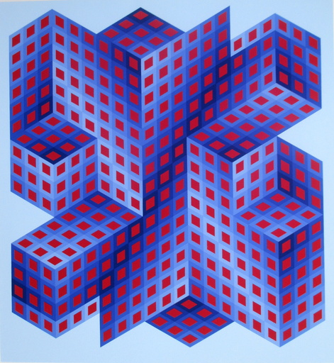 Victor VASARELY - Grabado - Composition 4