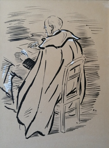 Frans MASEREEL - Drawing-Watercolor - Romain Rolland