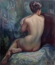 Albert GENTA - Peinture - Nu de dos