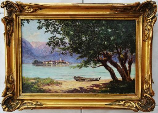 Marcel Paul MEYS - Painting - Lac de montagne vers 1890