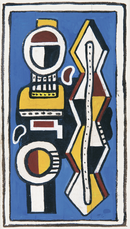 Fernand LÉGER - Drawing-Watercolor - Composition