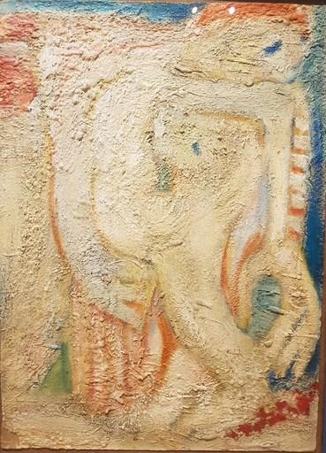 Edgar MELIK - Pintura - Homme et son chien