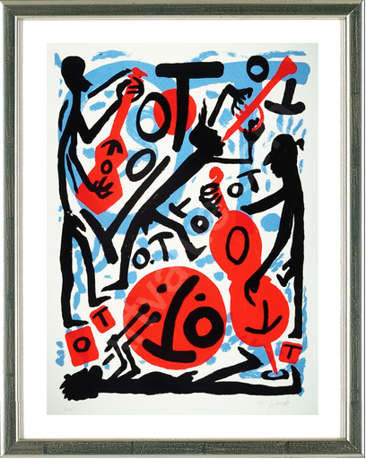 A.R. PENCK - Estampe-Multiple - Jazz