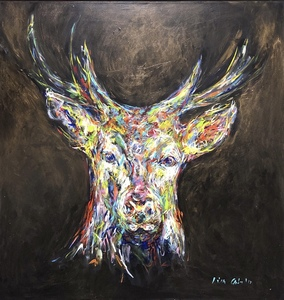 Nicole LEIDENFROST - Gemälde - Bunt im Wald