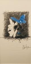 Philippe PASQUA - Dessin-Aquarelle - Vanité et papillons